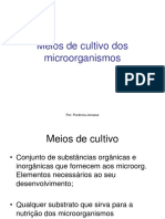 8aula Meios de cultivo dos microorganismos