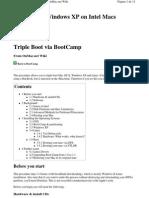 Triple Boot via BootCamp