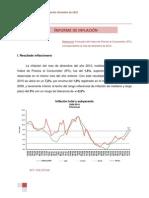 Inflación a diciembre de 2010