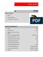 Sheeting - Cellular rubber EPDM
