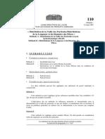 Essai n° 110 Distribution de la Taille des Particules