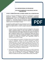 PROTOCOLO SANITARIO MODELO DE PREVENCION