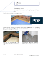 Forbo Colorex coved skirting angles and corners installation guide 2007 UK