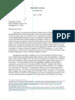 2020-05-11 White House Letter Re
