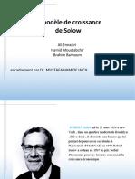 Le Modèle de Solow - Expose