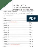 GUIDA ALLA SINERGIA E ANTAGONISMI DELLE VITAMINE E MINERALI_di Patrizia Coffaro
