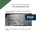 The Stone Inscriptions Case