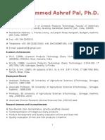 """Dr. M. Ashraf. Paul """"Bio-Data"""""""