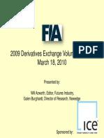 FIA-2009 Derivatives  Exchange Volume