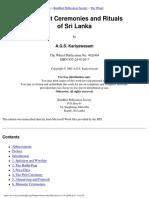 Kariyawasam, A.G.S - Buddhist Ceremonies And Rituals Of Sri Lanka