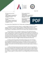 Cyberspace Solarium Letter to Inhofe + Smith
