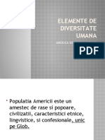 ELEMENTE DE DIVERSITATE UMANA.AMERICA
