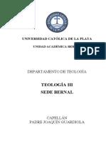 Resumen de Teología III (primera parte), UCALP