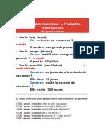 L'adverbe interrogative