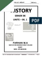 Grade 6_History_அலகு-1 வினாக்களின் தொகுப்பு