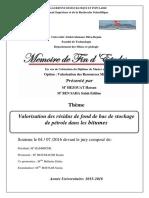 Valorisation des résidus de fond de bac de stockage de pétrole dans les bitumes..pdf