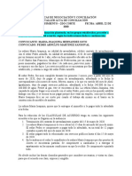 modelo clausulas de conciliación