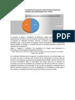 PERCEPCIÓN DE ESTUDIANTES DE COLEGIOS E INSTITUCIONES EDUCATIVAS SECUNDARIAS DEL DEPARTAMENTO DEL TOLIMA