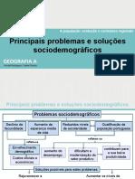 Principais problemas e soluções sociodemográficos