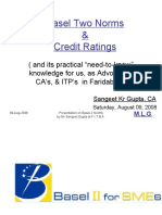 Basel 2 and Credit Rating Fit Bar Aug 2008