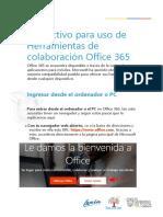 Manual de Usuario ingreso y registro Docentes & Estudiantes OF365