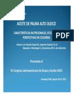 Aceite de palma alto oleico - Características Nutricionales, Situación y Perspectivas en Colombia