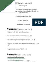 Proposição (Canto I – est