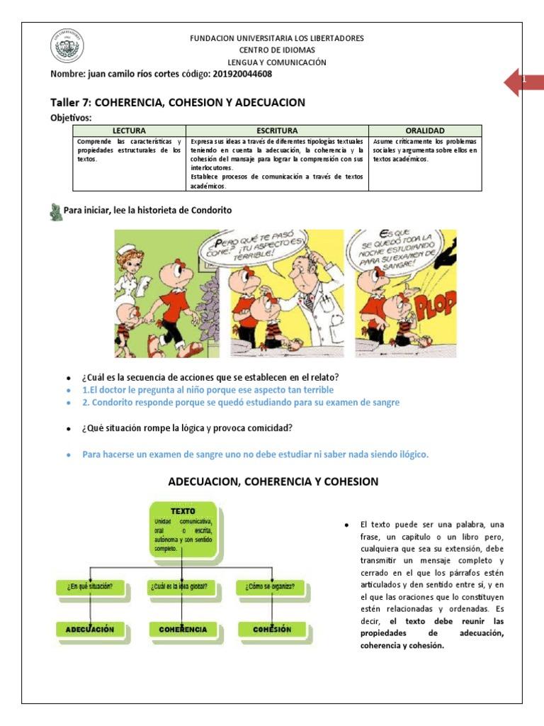 Taller 7 Adecuacion Coherencia Y Cohesion 2020 Robin Hood Comunicación