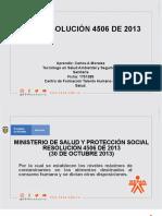 Presentación Resolición 4506 de 2013