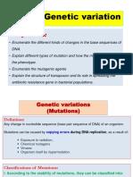 L 16 & L 17 Genetic variation
