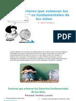 Factores que  vulneran los derechos de los niños