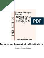 Jacques-Benigne Bossuet - Sermon sur la mort et la brièveté de la vie