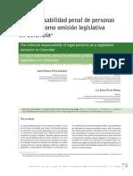La responsabilidad penal de personas jurídicas como omisión legislativa en Colombia (2014)