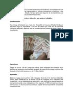 prestaciones laborales en guatemala