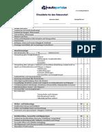 Checkliste Saisonstart (Boote)