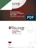 Plano Estratégico da JT 2015-2020