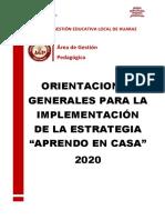 ORIENTACIONES - APRENDO EN CASA