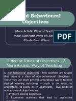 Beyond Behavioural Objectives