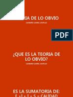 TEORÍA DE LO OBVIO [Autoguardado]LEO