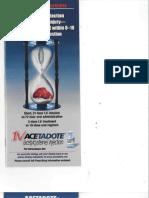 2010 - Acetadote Promo Material - Promotional Material (PDF - 1952KB)