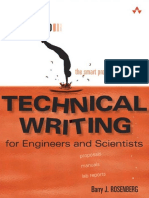 Barry J. Rosenberg - Spring Into Technical Writing for Engineers and Scientists_ For Engineers and Scientists-Addison-Wesley Professional (2005)