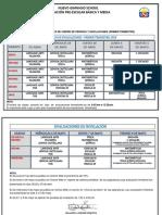 HORARIO DE EVALUACIONES Y NIVELACIONES-PRIMER TRIMESTRE