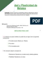 Elasticidad y Plasticidad 2020