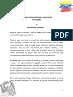 CONSIDERACIONES DEL SOCIALISMO- Róger Gutiérrez