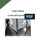 Luigi Galleani La fine dell'Anarchismo?