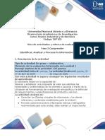 Guía de actividades y rúbrica de evaluación - Unidad 1 - Fase 2 - Comprender  Identificar, Analizar y Procesar la información de Diseño .pdf