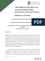 Convocatoria Ponencias Investigadores_Prospecta Colombia 2019