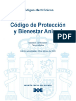 Código Legislativo Protección Animal en España