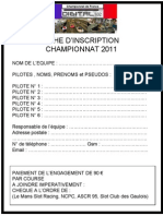 Inscription Course Champion Nat de France 2011-1