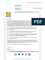 Reply from Lidl after I brought to their attention that their Snellville, GA, store was taking zero covid-19 protections